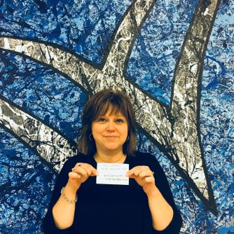 Bethany Miller won a $25 gift card to Mama Jeans for eating her fruits/veggies.